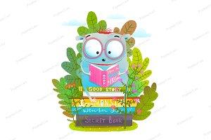 Cute Monster Reading Books