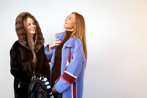 Women in  fur coat