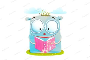 Funny Monster Reading Book