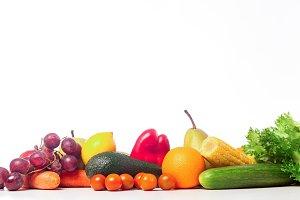 Bright tasty fresh food