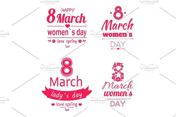 Ladys Day Love Spring 8 March Calligraphy Prints