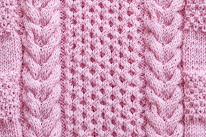 Knitted pattern from natural wool