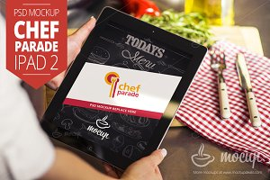 "Chef Parade iPad 2 Mockup ""B"""
