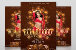 Bollywood Dancing School Show Flyer
