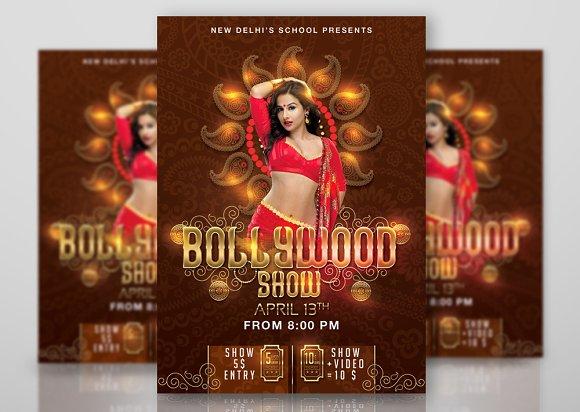 Bollywood Dancing School Show Flyer