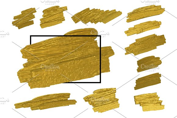 Gold Brush Texture Background