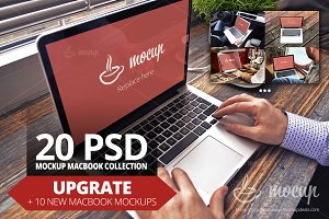Upgrade! 20 PSD MacBook Mockup
