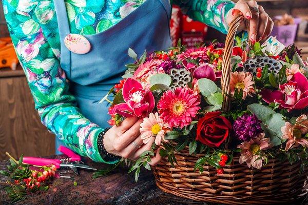 A stunning beautiful bouquet of flo…