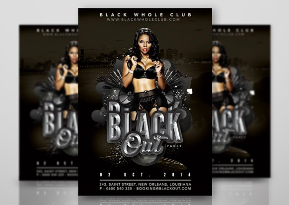 Black Out Party In Whole Black Club