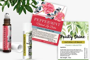Perfume Roller Ball Label Template