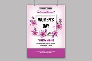 Women's Day Flyer -V782