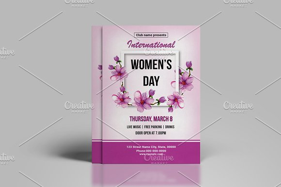 Women's Day Flyer -V782 in Flyer Templates - product preview 1