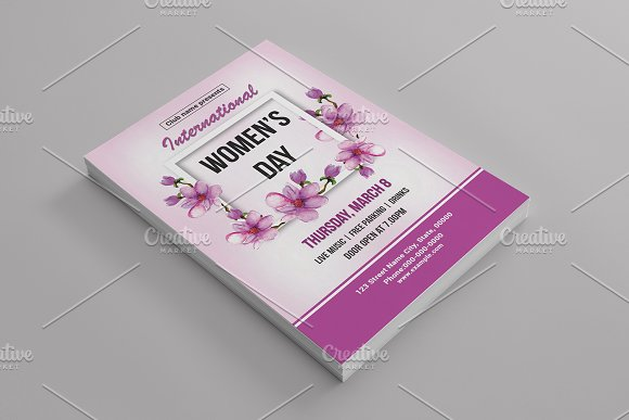 Women's Day Flyer -V782 in Flyer Templates - product preview 2