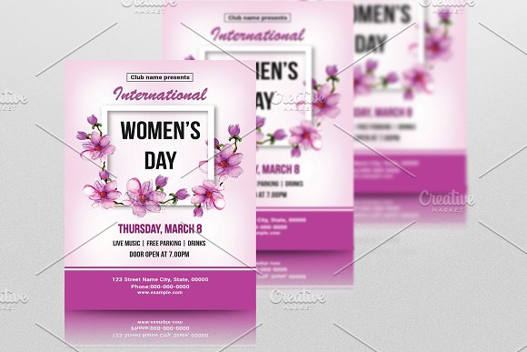 Women's Day Flyer -V782 in Flyer Templates - product preview 3