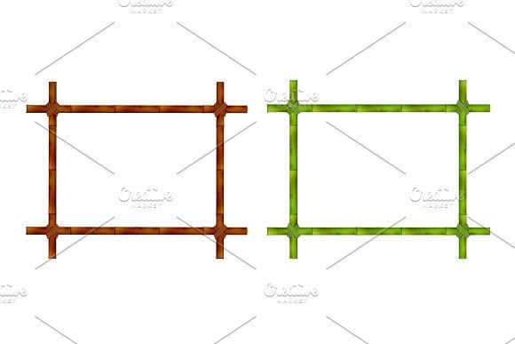 Set Of Bamboo Frame