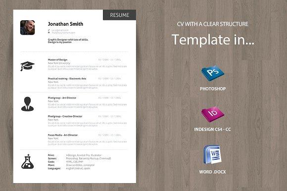 minimal curriculum vitae cv resume resumes