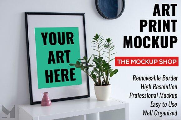 Modern Art Print Frame Mockup
