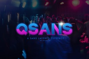 Qsans Layered Font