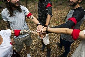 Outdoor team orienteering activity