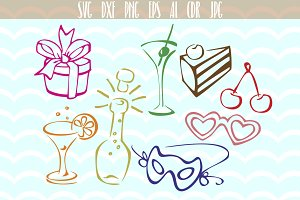 Birthday party SVG, Designs Bundle