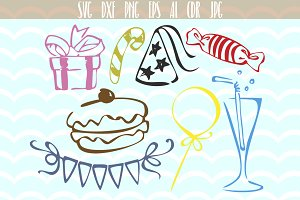 Party SVG set Birthday party SVG
