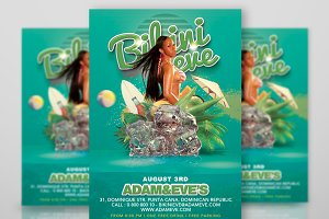 Summer Party Flyer Bikini Eve