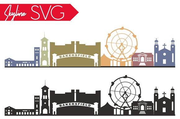 Bakersfield Skyline SVG