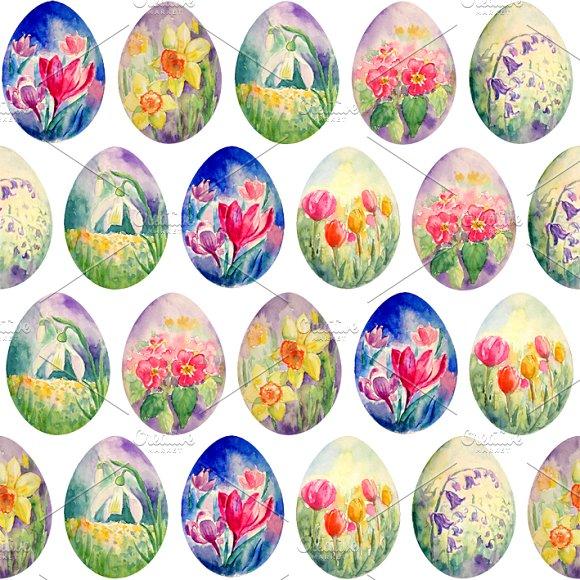 Spring Flower Easter Egg Pattern ~ Patterns on Creative Market