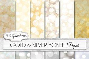 GOLD & SILVER BOKEH