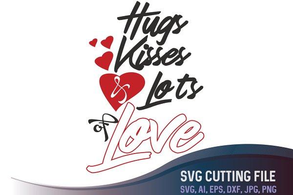 Hugs Kisses Love Valentines Day Pre Designed Photoshop Graphics Creative Market