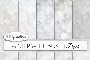 WINTER WHITE BOKEH