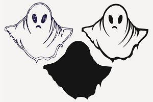 Ghost, halloween, vector SVG DXF PNG