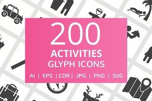 200 Activities Glyph Icons