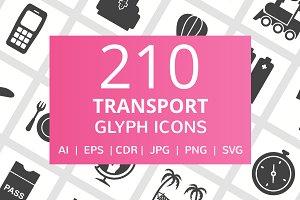 210 Transport Glyph Icons