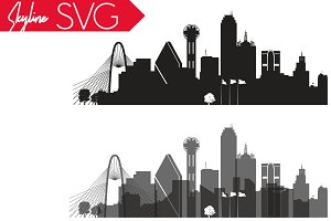Dallas Vector Skyline, Dallas SVG