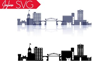 Chattanooga city, TN Vector Skyline