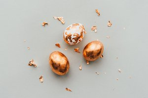Copper decorated eggs