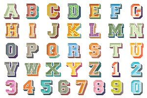 3D Alphabets and Numbers