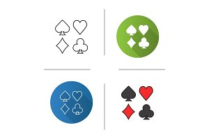 Suits of playing cards icon