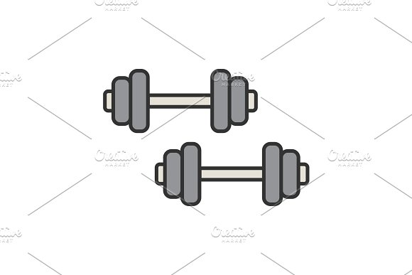 Dumbbells Color Icon