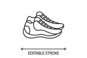 Sneakers linear icon