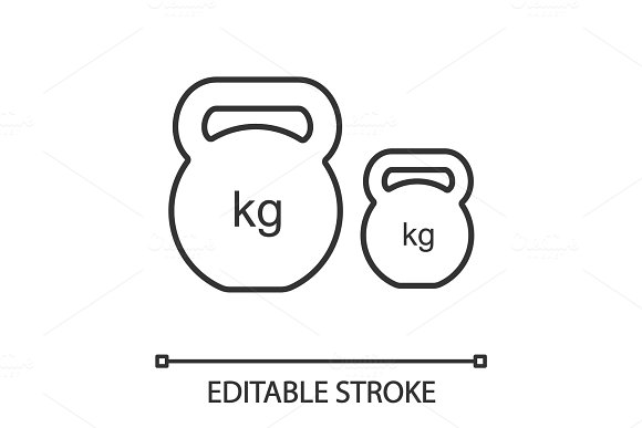 Kettlebells Linear Icon