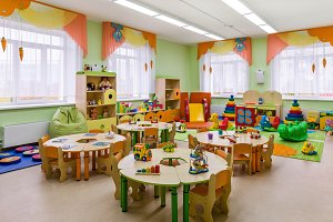 study room in the kindergarten