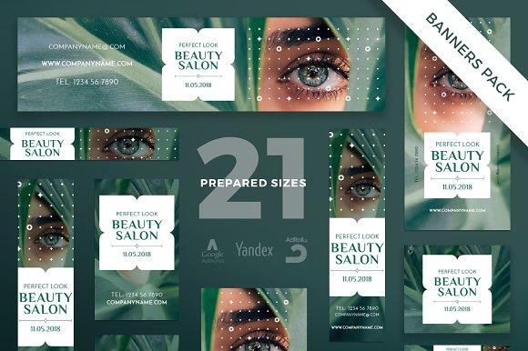 Banners Pack Beauty Salon