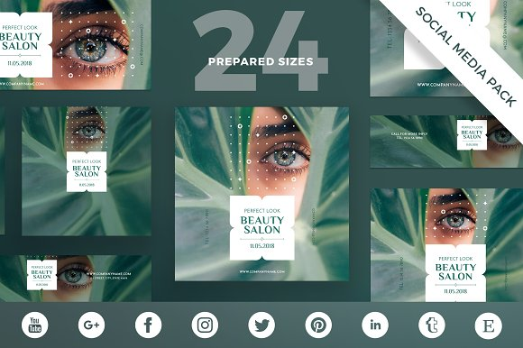 Social Media Pack Beauty Salon