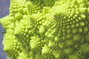 Close-up of  Romanesco cabbage