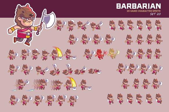 BARBARIAN GAME SPRITE