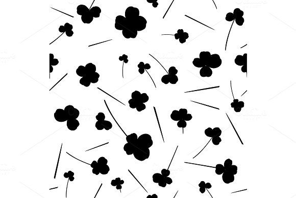 Clover leaf pattern seamless in simple style vector illustration