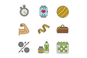 Fitness color icon