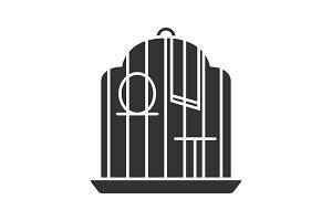 Birdcage glyph icon